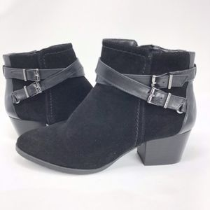 Alex Marie | Genuine Leather Suede Black Bootie